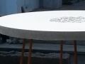 Rund betong-skiva